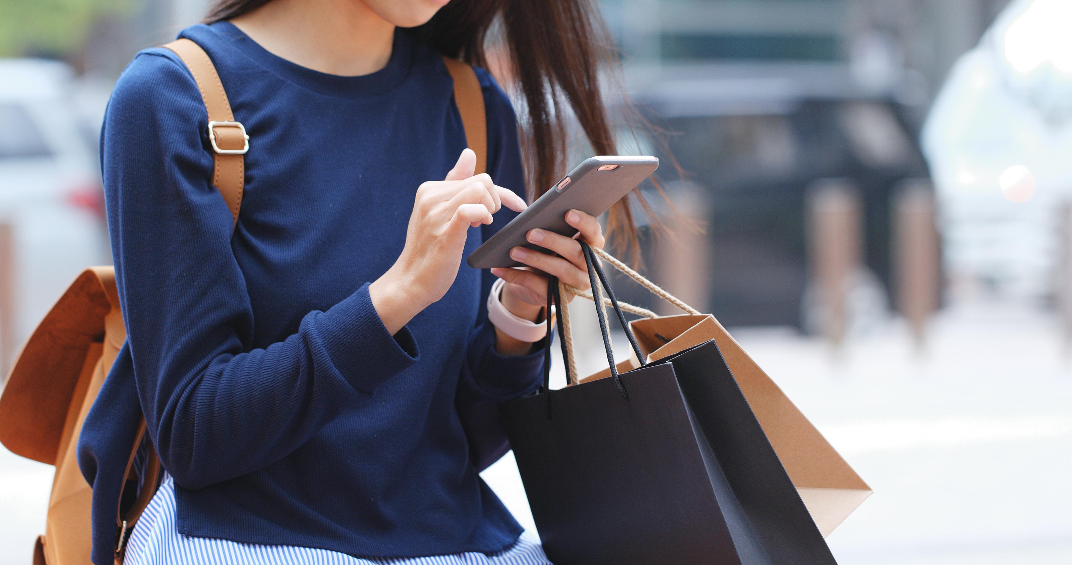 ritratto di una smart shopper